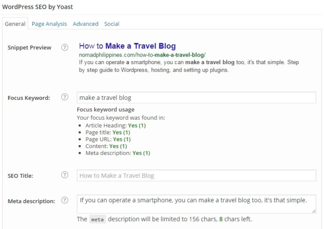 how-to-make-a-travel-blog-wordpress-seo-yoast-plugin